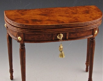 Dollhouse furniture, the dupont card table