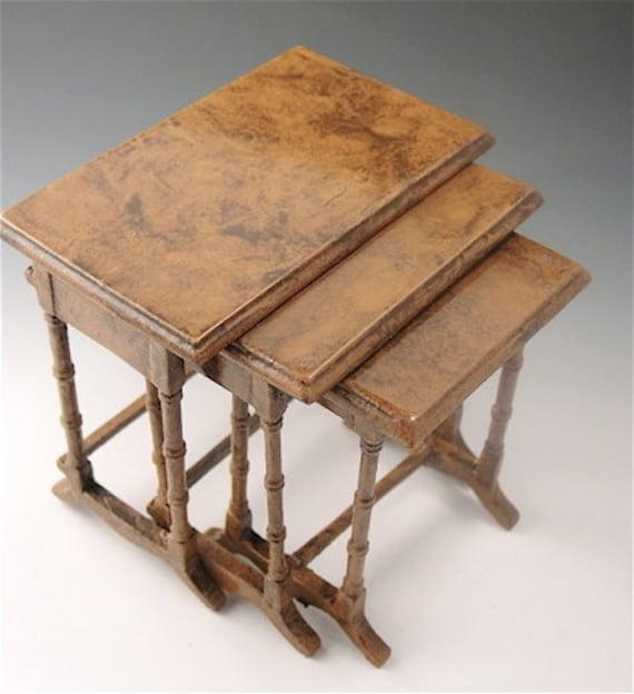 Nesting Snack Tables ~ Dollhouse nesting tables