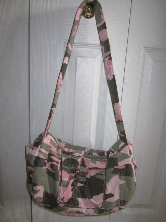 Pink Camo Pant Bag