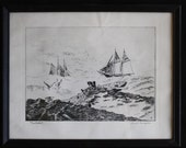 Nantucket - Etching by Lionel Barrymore