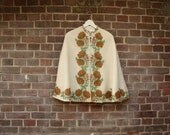 1930 Wool Embroidered Cape