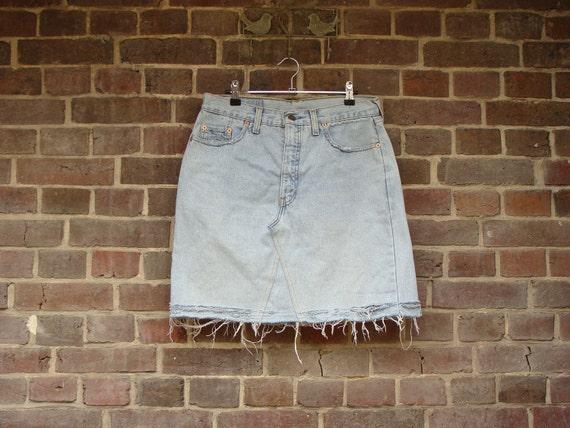 1980 Levis Mini Skirt Orange Tab