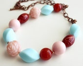 Sale. M a t i l d a . vintage beaded necklace