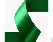 7/8 inch x 100 yds Double Face Satin Ribbon -- EMERALD