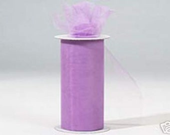 6 inch x 300 ft Nylon Tulle Roll -- LAVENDER