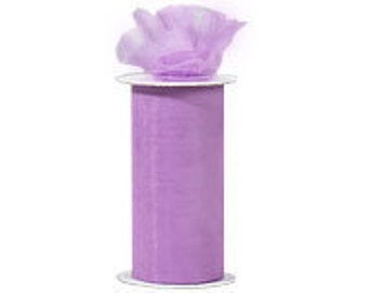 6 inch x 300 ft Nylon Tulle Roll -- PANSY