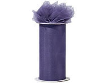 6 inch x 75 ft Nylon Tulle Roll -- AMETHYST