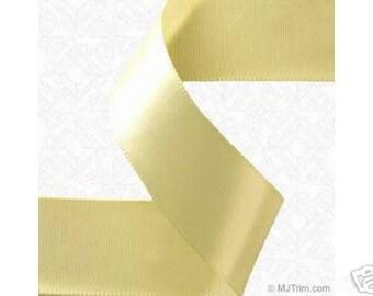 5/8 x 100 yds SINGLE FACE Satin Ribbon - Light Yellow