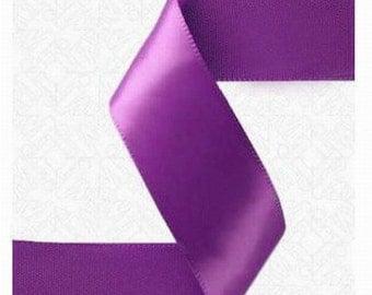 3/8 x 100 yds SINGLE FACE Satin Ribbon - Purple