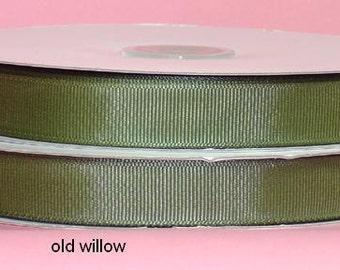 7/8 inch x 50 yds Grosgrain Ribbon -- OLD WILLOW