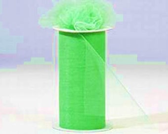 6 inch x 75 ft Nylon Tulle Roll -- CITRUS