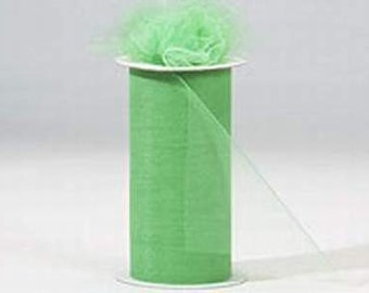 6 inch x 75 ft Nylon Tulle Roll -- LIME
