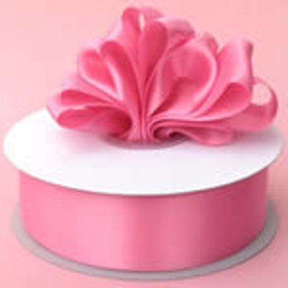 7/8 x 100 yds SINGLE FACE Satin Ribbon - Hot Pink