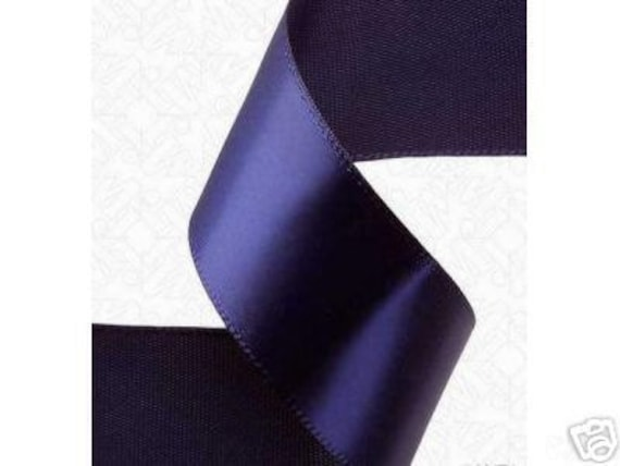 5/8 x 100 yds SINGLE FACE Satin Ribbon - Navy