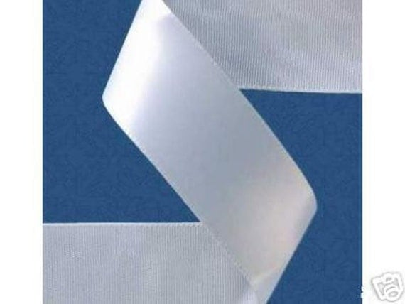 5/8 inch x 100 yds Double Face Satin Ribbon -- WHITE