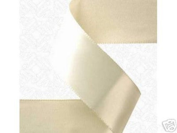 7/8 inch x 100 yds Double Face Satin Ribbon -- IVORY