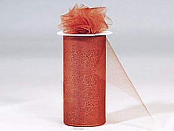 6 inch x 75 ft Nylon Tulle Roll -- COPPER