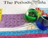Periodic Table Chemistry Science Fat Quarter Panel Fabric