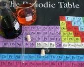 Periodic Table (Dark) Chemistry Science Fabric (Fat Quarter)
