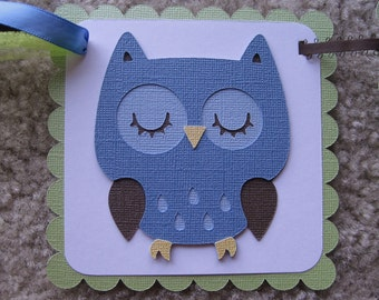 """WOODLAND OWL """"it's a boy"""" Baby Shower Banner Made to Order"""