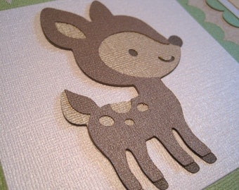 FOREST FRIENDS Custom Name Banner for a boy or girl Handmade Christmas Gift