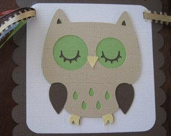 TREETOP OWL Custom Name Banner for Boy or Girl Birthday Baby Shower Handmade Christmas Gift
