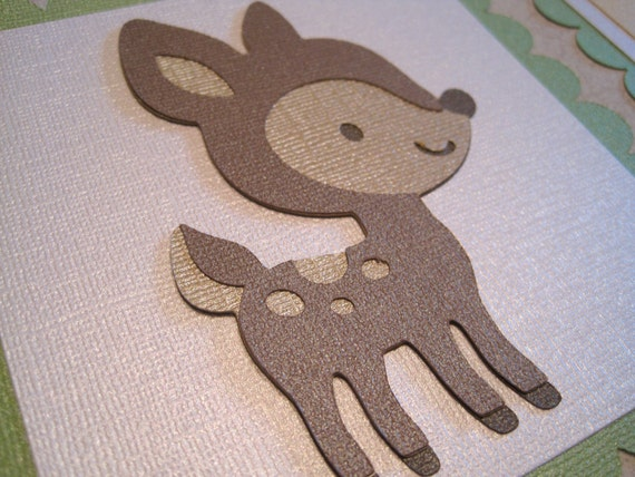 FOREST FRIENDS Custom Name Banner for a boy or girl Handmade Christmas Gift