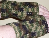 Camouflage Fingerless Gloves