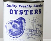 Vintage Metal Oyster Can
