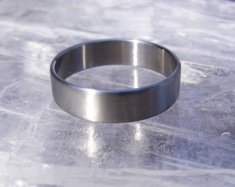 Titanium Ring Wedding Band in Size 17, 18, 19, 20, 21, or 22