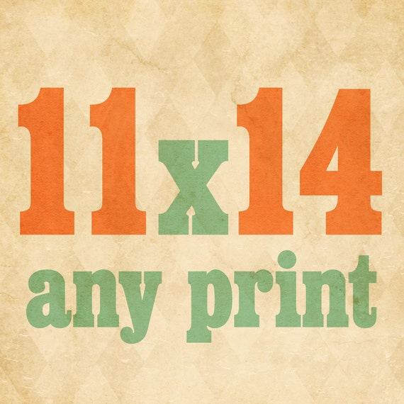 Wicked Paper Co Typography Art Print // 11x14