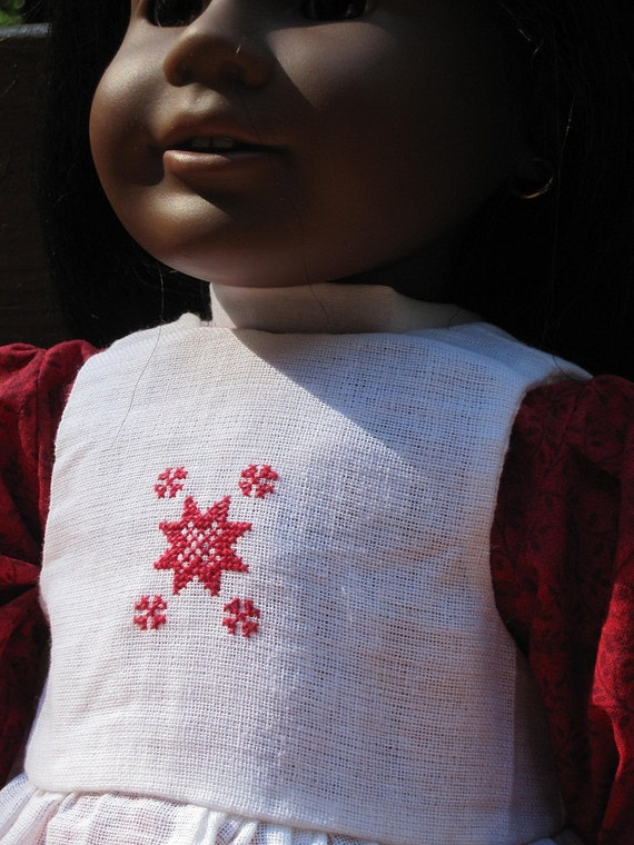18 Inch American Girl Doll Dresses - Addy's or Kristens Holiday Dress