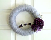 Row of Purple Birds - Yarn Wreath