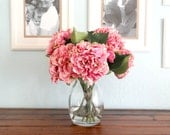 Silk Flower Arrangement - Giant Pink Hydrangeas