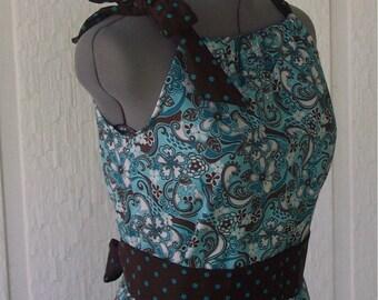 Adult Size PillowCase Dress - Blue Fantasy - Pick your size - 4 6 8 10 12 14 16 XS to XL