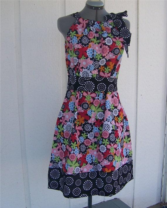 Adult Size PillowCase Dress Monday Flowers 10 12 Ready