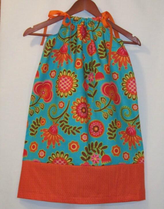 PillowCase Dress - Sunburst - Pick your size - 12m 18m 24m 2t 3t 4t 5 6 7 8 Years