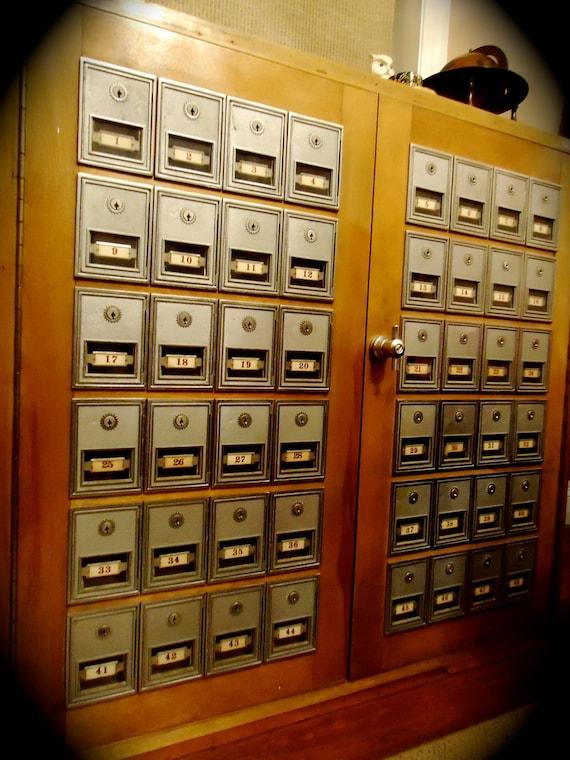 RESERVED FOR MATTHEW Vintage Industrial Mail Postal Sorter for Wine or Liquor Storage