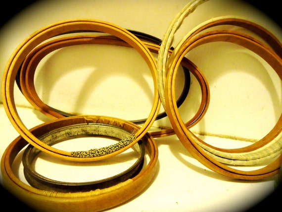 Lot of  Eight Vintage Embroidery Hoops