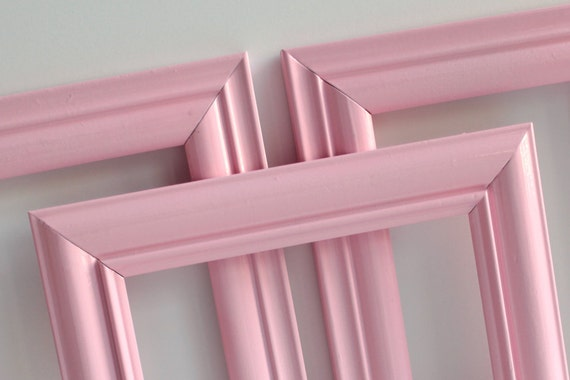 Reclaimed Candy Pink Frame Collection Set of 3