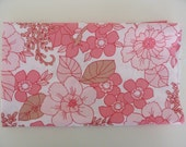 fat quarter, vintage, reclaimed, pink and brown floral, fq