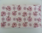 fat quarter, vintage sheet, bed sheet, pink rose and daisy, fq, uk sellers.  by susiestars on Etsy