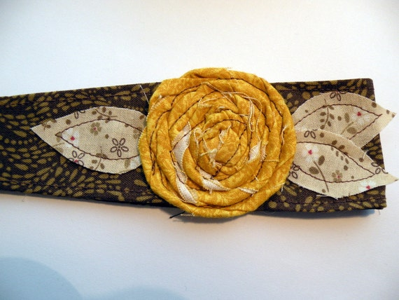 Fabric Headwrap with a Rosette Flower