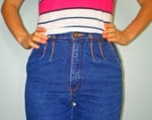 Vintage High Waisted Denim Brittania Jeans Late 70s Early 80s Small
