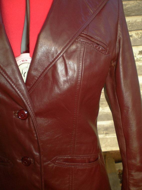 Women's Vintage Leather Jacket S & U Fashions NY Size Small/Med