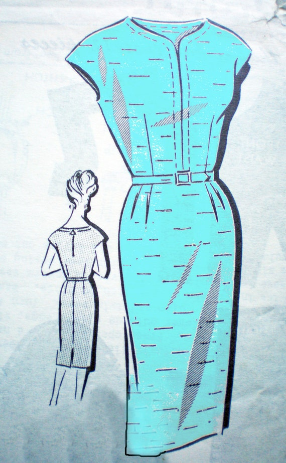 """Reserved for J CLEARANCE Vintage 60s Patt-O-Rama 8118 Wiggle Dress and Jacket Sewing Pattern 41"""" bust"""