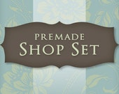 Etsy Shop Set - Banner, Avatar, Listing Graphics, Customizable Premade
