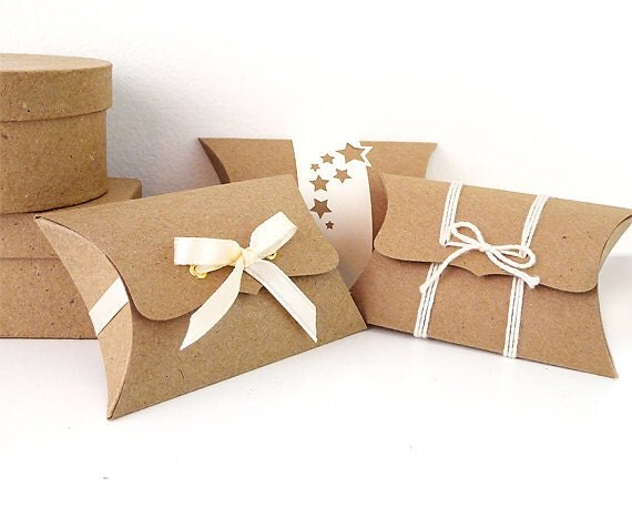 Diy Wedding Gift Box: Pillow Boxes Small 12 Unique Wedding Favor Boxes DIY