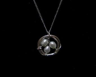 bird nest pendant necklace