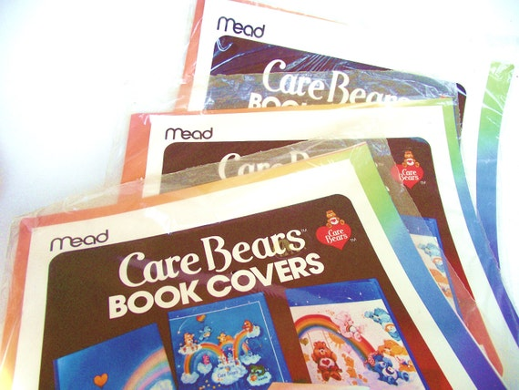 Care Bears Book Covers / 1980s Nostalgia Paper Toys / Rainbow School Supplies Mead / Vintage